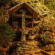 Ancient Cross. Holy Island  Art Print