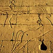 Ancient Egyptian Carving, Ramesseum Temple, Luxor Art Print