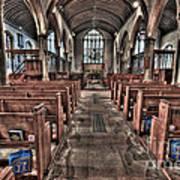 Ancient Lingfield Church Art Print