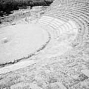 Ancient Site Of Roman Theatre At Salamis Famagusta Turkish Republic Of Northern Cyprus Trnc Art Print by Joe Fox