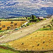 Andalusia Countryside Panorama Art Print