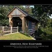 Andover Nh Historical Bridge Art Print by Jim McDonald Photography