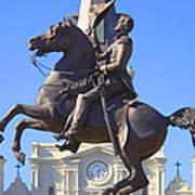 Andrew Jackson Statue Art Print