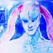 Angel Blue Art Print