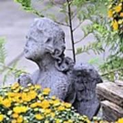 Angel Of The Garden Art Print
