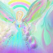 Angel Working Art Print by Rosana Ortiz