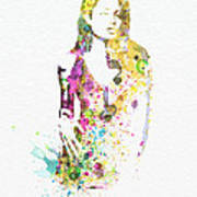 Angelina Jolie 2 Art Print by Naxart Studio