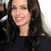 Angelina Jolie At Arrivals For Dvd Art Print