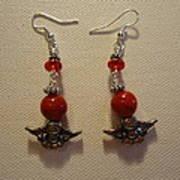Angels In Red Earrings Art Print by Jenna Green