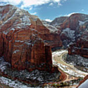 Angels Landing View From Top Art Print