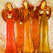 Angels Rejoicing Together Art Print