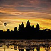 Angkor Wat At Sunrise II Art Print