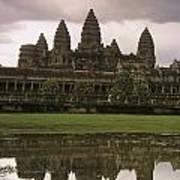 Angkor Wat Temple Reflected Art Print