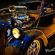 Anglia Dragster And A Duce Staged For A Grudge Run  Art Print