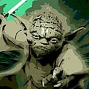 Angry Yoda Art Print