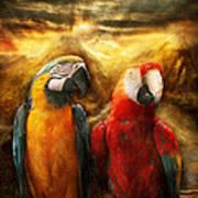 Animal - Parrot - Parrot-dise Art Print