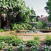 Annapolis Fountain Garden Art Print