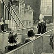 Anne Hutchinson, Charged With Heresy Art Print by Everett