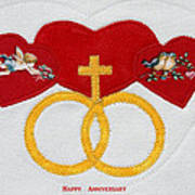 Anniversary Hearts Art Print