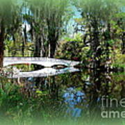 Another White Bridge In Magnolia Gardens Charleston Sc II Art Print