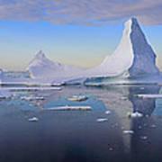 Antarctic Evening Art Print