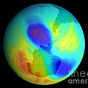 Antarctic Ozone Hole, September 2002 Art Print