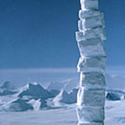 Antarctic Snowman Art Print