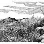 Anthony Gap New Mexico Texas Print by Jack Pumphrey