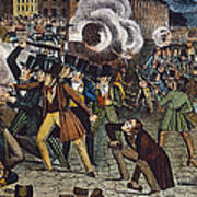Anti-catholic Mob, 1844 Art Print