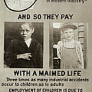 Anti-child Labor Poster Art Print