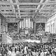 Anti-slavery Meeting, 1842 Art Print
