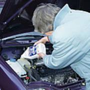 Antifreeze And Car Engine Art Print