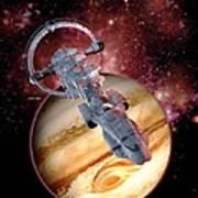Antimatter Drive Spaceship Art Print