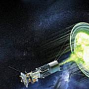 Antimatter Spaceship Art Print by Henning Dalhoff