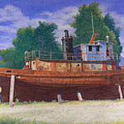 Antiquated Hudson River Tug Print by Glen Heberling