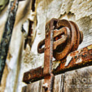 Antique - Door Rail - Rusty Art Print