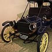 Antique Automobile With Yellow Spoke Wheels Art Print