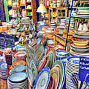 Antique Dishes Fishs Eddy New York Art Print