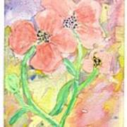 Antique Flowers Art Print