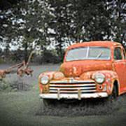 Antique Ford Car 7 Art Print