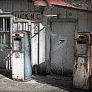 Antique Gas Pumps Art Print