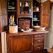 Antique Hoosier Cabinet Art Print by Carmen Del Valle
