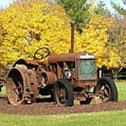 Antique Tractor Art Print