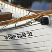 Antique Us Coast Guard Boat Art Print