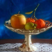 Apple Lemon And Mandarins. Valencia. Spain Art Print