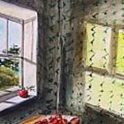 Apples And Homespun Art Print