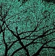 Aqua Scrub Art Print