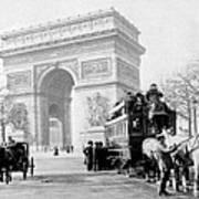 Arc De Triomphe - Paris France - C 1898 Art Print