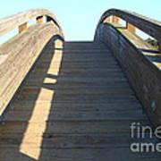 Arched Pedestrian Bridge At Martinez Regional Shoreline Park In Martinez California . 7d10526 Art Print