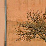 Architecture With Winter Tree Print by Lenore Senior